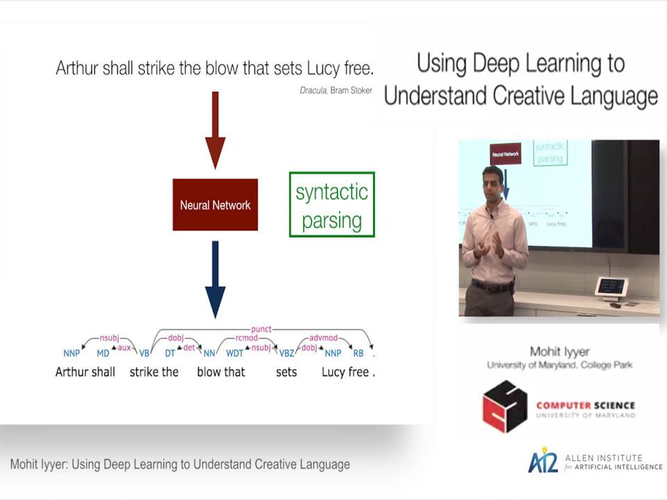Using Deep Learning to Understand Creative Language: Mohit Iyyer